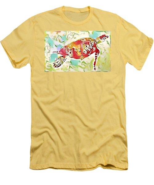 Ruby The Turtle Men's T-Shirt (Slim Fit) by Erika Swartzkopf