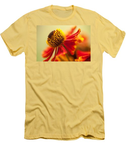 Men's T-Shirt (Athletic Fit) featuring the photograph Rudbeckia Macro by Jenny Rainbow