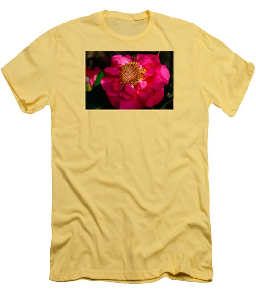 Men's T-Shirt (Slim Fit) featuring the photograph Ruffles Of Pink  by John Harding