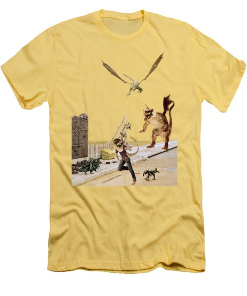 Running From My Problems Men's T-Shirt (Slim Fit) by Methune Hively
