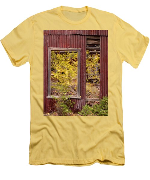 Men's T-Shirt (Slim Fit) featuring the photograph Rustic Autumn by Leland D Howard