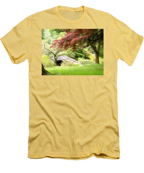 Rustic Bridge Men's T-Shirt (Slim Fit) by Carol Crisafi