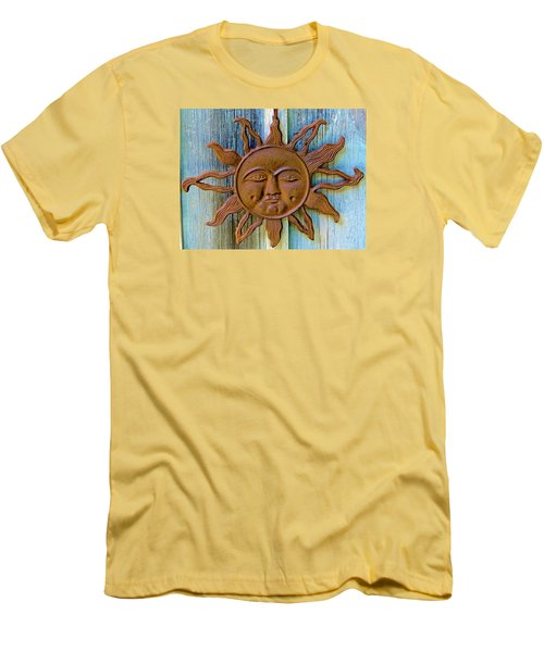 Rustic Sunface Men's T-Shirt (Athletic Fit)