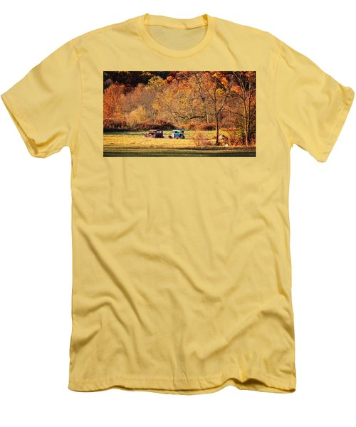Men's T-Shirt (Slim Fit) featuring the photograph Rusty And Oldie by Eduard Moldoveanu