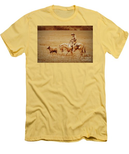 Men's T-Shirt (Slim Fit) featuring the photograph Safely Home by Myrna Bradshaw