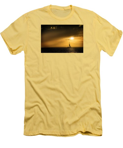 Men's T-Shirt (Slim Fit) featuring the photograph Sail Away Maui by Janis Knight