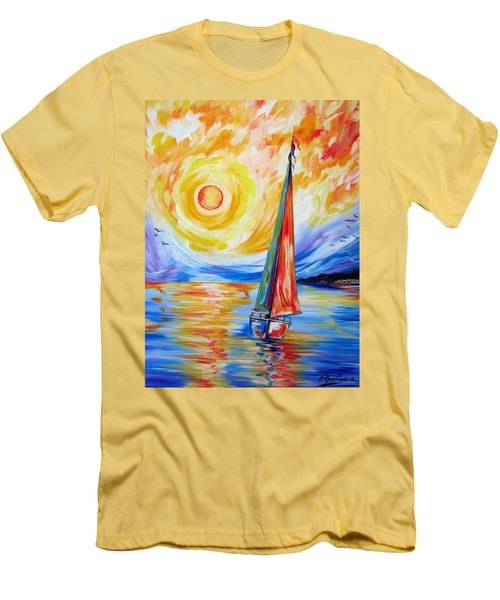 Sailing In The Hot Summer Sunset Men's T-Shirt (Athletic Fit)