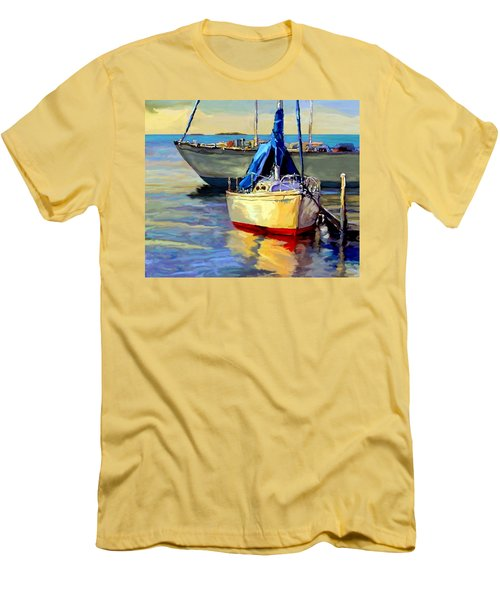 Sails At Rest Men's T-Shirt (Slim Fit) by David  Van Hulst