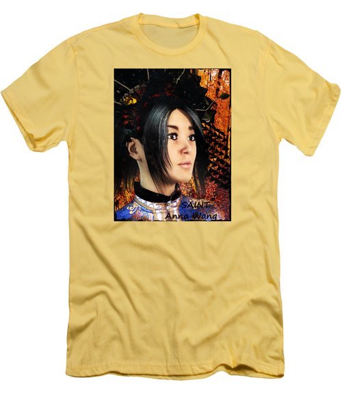 Men's T-Shirt (Slim Fit) featuring the painting Saint Anna Of China by Suzanne Silvir
