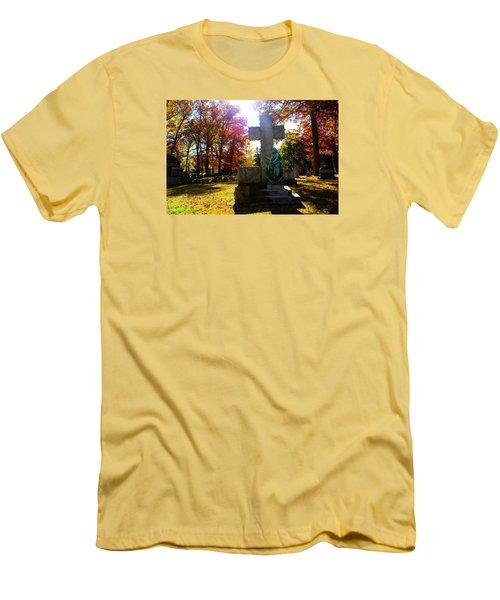 Men's T-Shirt (Slim Fit) featuring the photograph Saint Mary by Michael Rucker