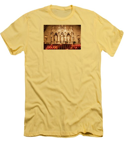 Men's T-Shirt (Slim Fit) featuring the photograph Saint Rose Of Lima Altar by Jean Haynes