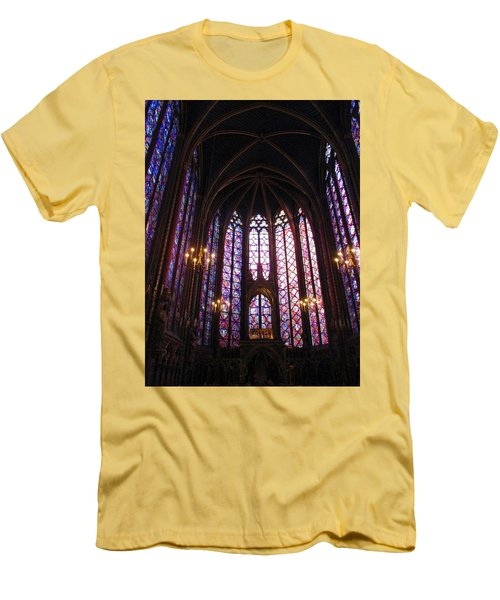 Men's T-Shirt (Slim Fit) featuring the photograph Sainte-chapelle by Christopher Kirby
