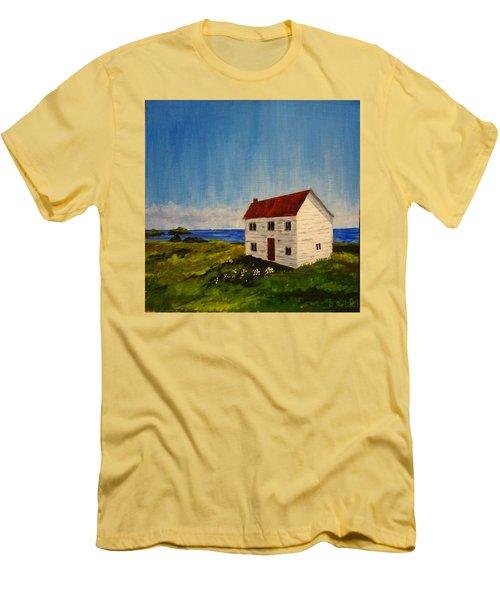 Saltbox House Men's T-Shirt (Slim Fit) by Diane Arlitt