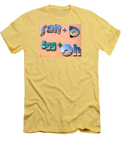 San D Egg Oh Men's T-Shirt (Slim Fit) by Christopher Woods