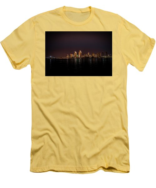 Men's T-Shirt (Slim Fit) featuring the photograph San Diego Harbor by John Johnson