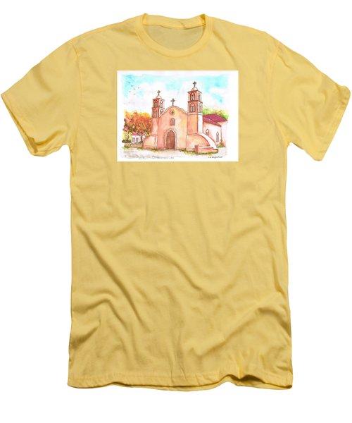 San Miguel Catholic Church, Socorro, New Mexico Men's T-Shirt (Athletic Fit)