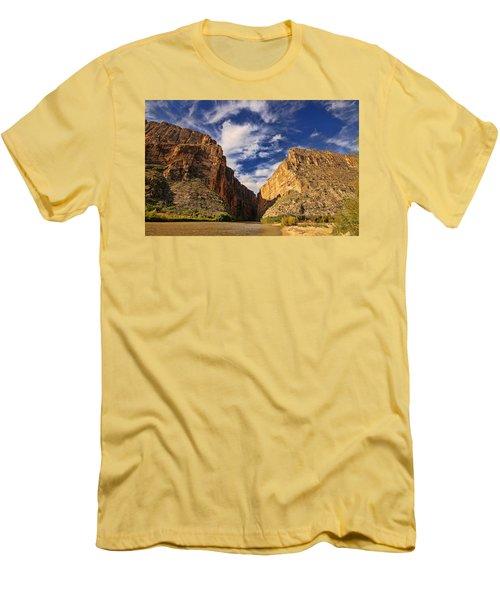 Santa Elena Canyon 3 Men's T-Shirt (Slim Fit) by Judy Vincent