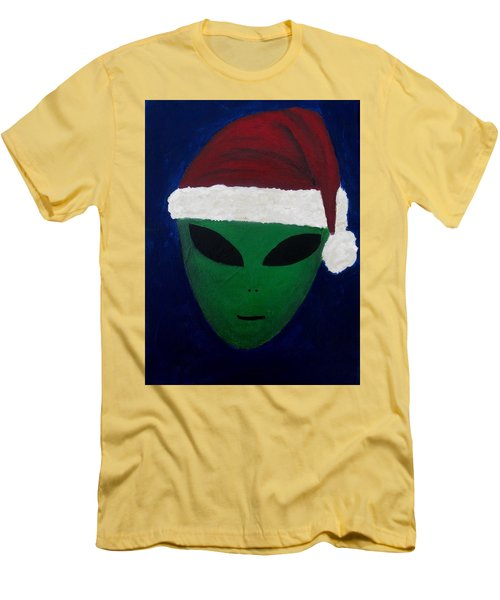 Men's T-Shirt (Slim Fit) featuring the painting Santa Hat by Lola Connelly