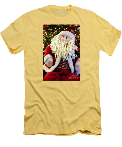Men's T-Shirt (Slim Fit) featuring the photograph Santa Takes A Seat by Vinnie Oakes