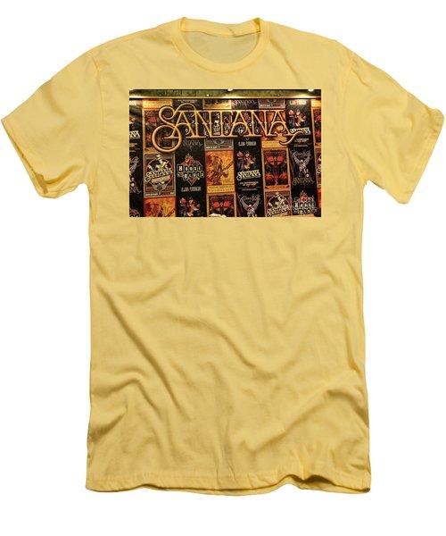 Santana House Of Blues Men's T-Shirt (Slim Fit) by Chuck Kuhn