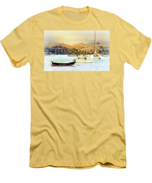 Sausalito Sailboats Men's T-Shirt (Athletic Fit)