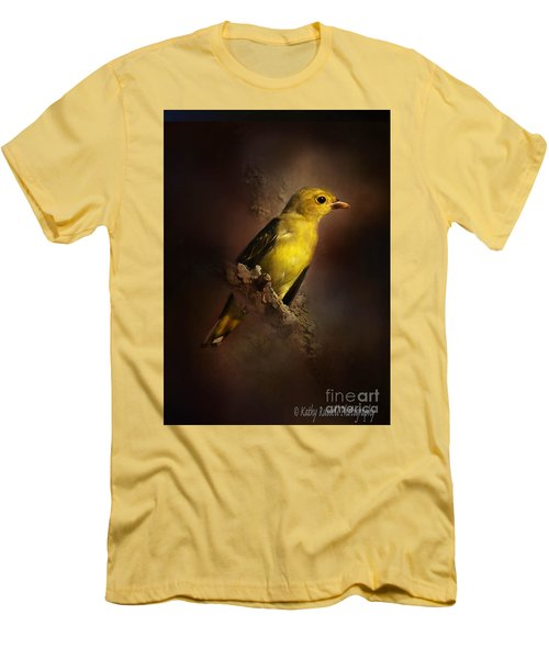 Scarlet Tanager Men's T-Shirt (Slim Fit) by Kathy Russell
