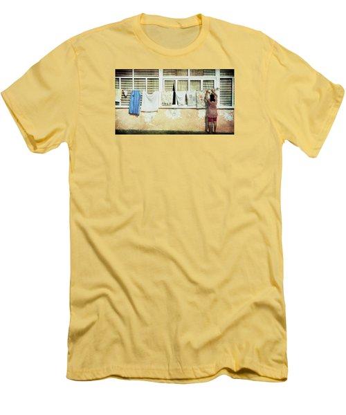 Scene Of Daily Life Men's T-Shirt (Slim Fit) by Vittorio Chiampan