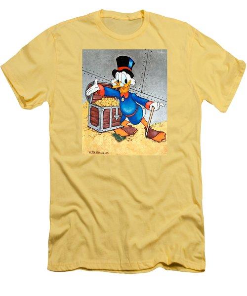 Scrooge Mcduck  Men's T-Shirt (Slim Fit) by Victor Minca