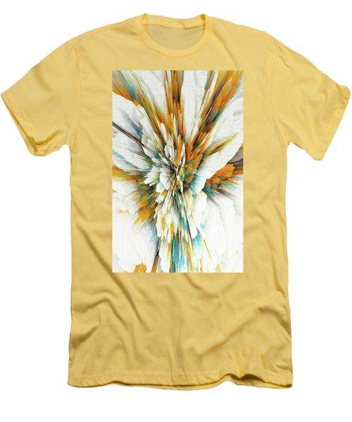 Men's T-Shirt (Athletic Fit) featuring the digital art Sculptural Series Digital Painting 05.072311ex590lvs.jpg  by Kris Haas