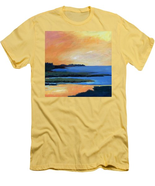 Men's T-Shirt (Slim Fit) featuring the painting Sea And Sky by Gary Coleman
