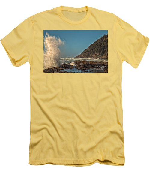 Sea Monster Men's T-Shirt (Slim Fit) by Billie-Jo Miller