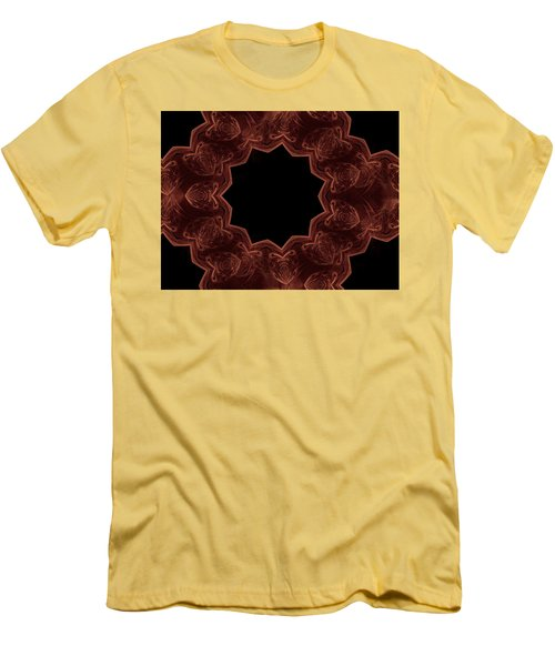 Seamless Kaleidoscope Copper Men's T-Shirt (Athletic Fit)
