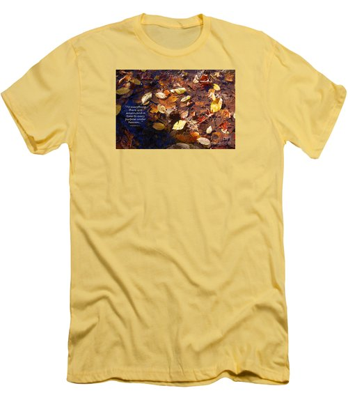 Men's T-Shirt (Slim Fit) featuring the photograph Seasons by Diane E Berry