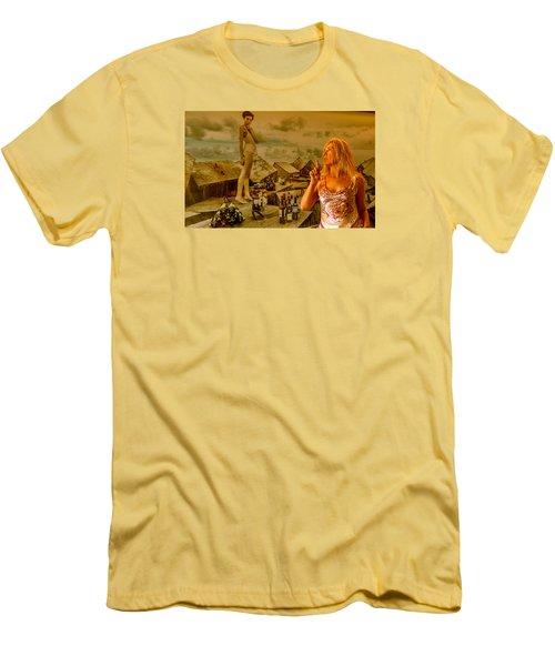 Secrets Men's T-Shirt (Slim Fit) by Yelena Tylkina