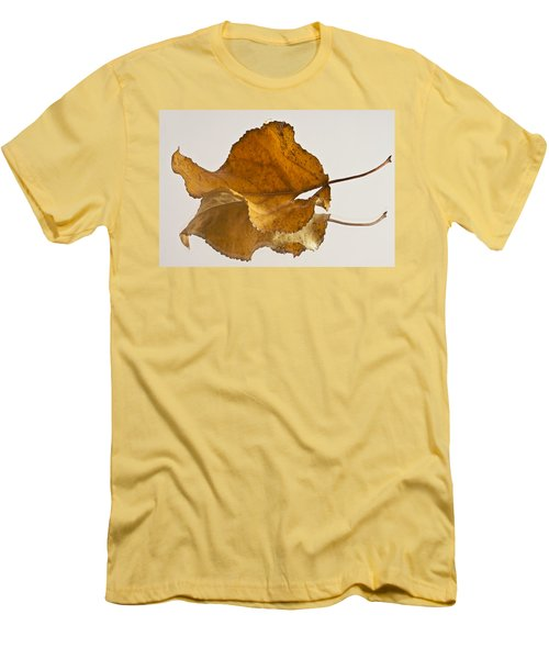 Seeing Double Autumn Leaf  Men's T-Shirt (Slim Fit) by Sandra Foster