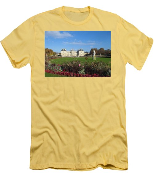 Men's T-Shirt (Slim Fit) featuring the photograph Senate From Jardin Du Luxembourg by Christopher Kirby
