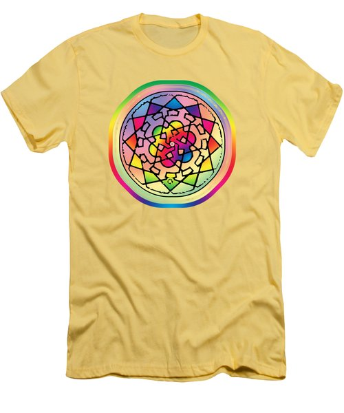 Sephardic Medieval Mandala Men's T-Shirt (Athletic Fit)