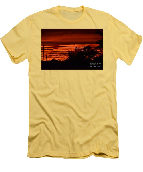 September Kansas Sunset Men's T-Shirt (Slim Fit) by Mark McReynolds