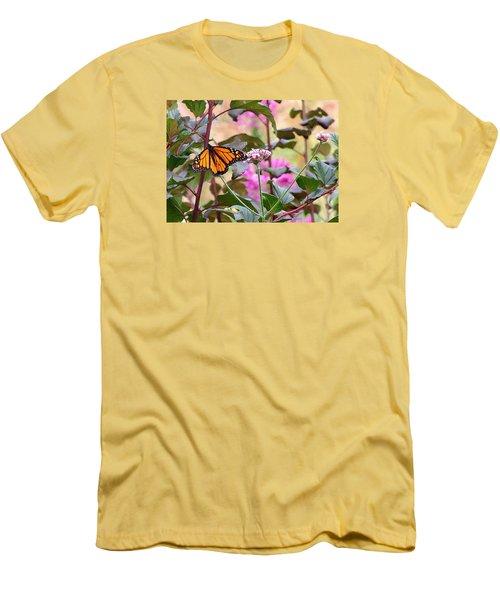September Monarch Men's T-Shirt (Slim Fit) by Janis Nussbaum Senungetuk