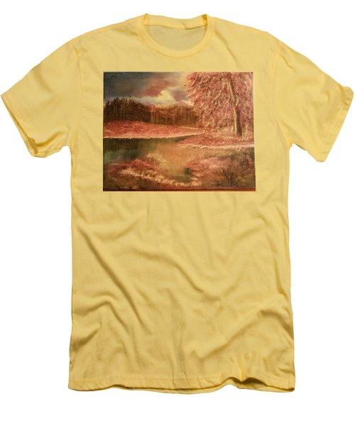 Serene Lake  Men's T-Shirt (Slim Fit)