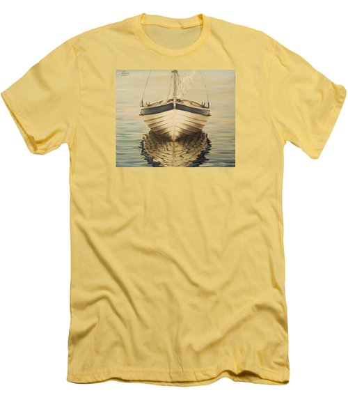 Men's T-Shirt (Slim Fit) featuring the painting Serenity by Natalia Tejera