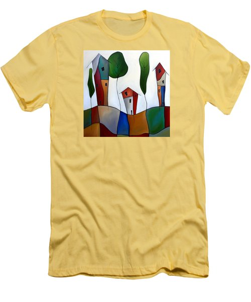 Settling Down Men's T-Shirt (Slim Fit) by Tom Fedro - Fidostudio
