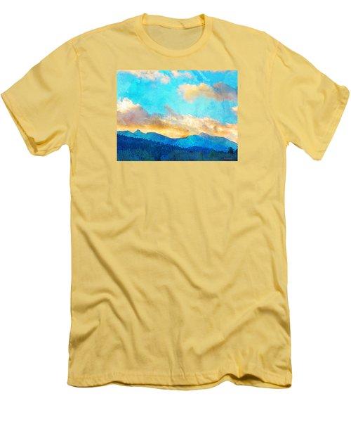 Sheeps Head And Truchas Peaks-predawn December Men's T-Shirt (Slim Fit) by Anastasia Savage Ealy