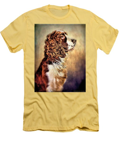 Men's T-Shirt (Slim Fit) featuring the photograph Shiloh, English Springer Spaniel by Wallaroo Images
