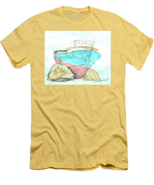 Ship Wreck Men's T-Shirt (Slim Fit) by Terry Frederick