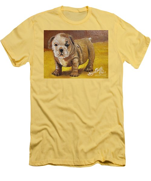 Men's T-Shirt (Slim Fit) featuring the painting Shortstop by Sigrid Tune