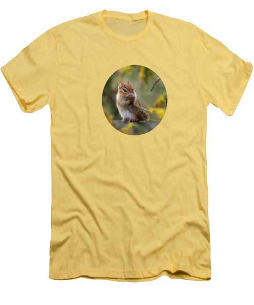 Shy Little Chipmunk Men's T-Shirt (Athletic Fit)