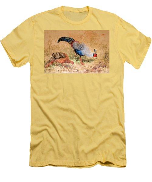 Siamese Pheasant  Men's T-Shirt (Slim Fit) by Joseph Wolf
