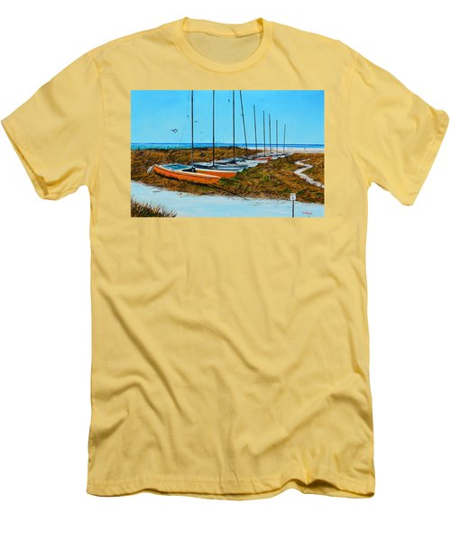 Siesta Key Access #8 Catamarans Men's T-Shirt (Athletic Fit)