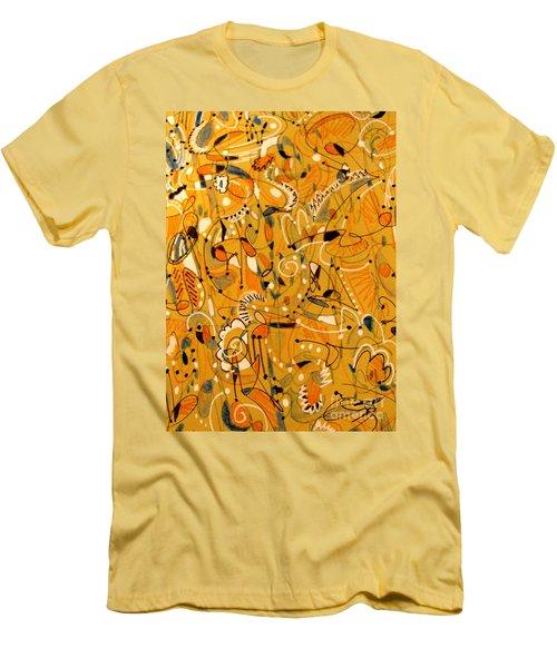 Signs Written In Big Print Men's T-Shirt (Slim Fit) by Nancy Kane Chapman